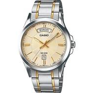 Casio นาฬิกาข้อมือผู้ชาย หน้าปัด DAY-DATE สายสแตนเลส รุ่น MTP-1381 ของแท้ประกันศูนย์