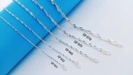 """💥READY STOCK💥 (Necklacet S925 Sterling Silver) 銀項鏈 (Rantai Leher Perak) """"Singapore/Wave Chain""""水波鏈(Rantai Gelombang)"""