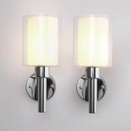 燈具 不銹鋼玻璃墻壁燈酒店臥室床頭壁燈促銷6003