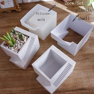 2021 Cement Flower Pot Mold Silicone Molds for Terrazzo Pot Concrete Round Pot Molds