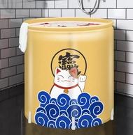 浴桶 成人家用泡澡折疊塑料洗澡桶大人浴盆免充氣浴缸兒童加厚大號