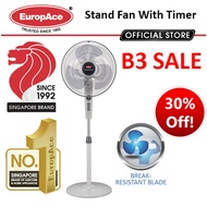 EuropAce 16 inch Stand Fan with Timer / Remote / upto 2 Years Warranty*