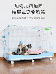 Dog cage Teddy with toilet Indoor dog house dog house fence rabbit cage pet cat cage villa small and medium dog cage
