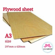 Plywood sheet 3/5/9mm(A3) 297mm x 420mm
