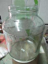 candy尋寶樂園...老玻璃甕-玻璃罐...口直徑9高21底15..2號..底有裂