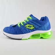 LOTTO SUPER LITE 氣墊跑鞋 編織鞋面 大童/女鞋 公司貨 LT0AKR1615 藍【iSport愛運動】