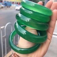 台灣現貨直播專拍玉鐲天然正品紫玉髓綠玉髓瑪瑙手鐲