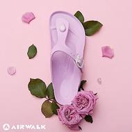 【AIRWALK】百搭羅馬夾腳拖鞋-藍鈴紫