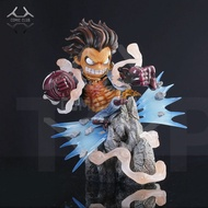instock one piece sd version 23cm Gear fourth Monkey D Luffy gk resin statue Figure for Collection.