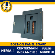 Panel Board 8 Branches Bolt-On Type Center-Main Flush-Mounted Gauge #16
