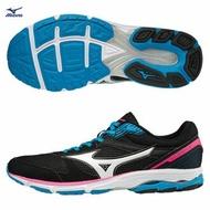 【全館滿額88折】MIZUNO WAVE AERO 16 女鞋 路跑 慢跑 輕量 緩震 黑 【運動世界】 J1GB173503