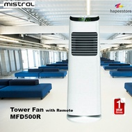 Mistral Powerful Tower Fan With Remote - MFD500R (1 Year Warranty)