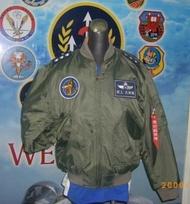 嘎嘎屋 台灣製 空軍飛行夾克 美式MA1~防火材質(GI-MA1)+手臂車氈+J0001飄帶2條