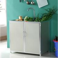 (品優)【一件  現貨】廚房鋁合金簡易櫥櫃 廚櫃 碗櫃 廚房櫃 不銹鋼水槽櫃 洗菜盆櫃 收納櫃