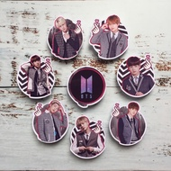 15pcs  BTS Theme Printed Cupcake Toppers for Cake Design/Party decoration and Supply