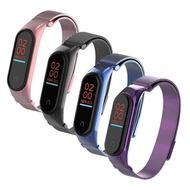 【AdpE】小米手環3代/4代 米蘭磁吸不銹鋼錶帶