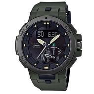 【CASIO】PROTREK簡約科技太陽能電波腕錶-綠(PRW-7000-3)正版宏崑公司貨