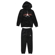 JORDAN【JDBEE6986023】套裝 連帽外套+縮口長褲 童裝 小童 中童 飛人LOGO 黑色