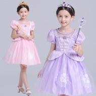 女童萬聖節服裝生日派對蘇菲亞公主禮服
