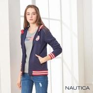 【NAUTICA】女裝磨毛連帽外套(深藍)
