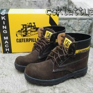 CATERPILLAR HIGHT Safety Boots Shoes Coffee