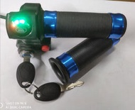 精選*雙節四燈鎖加開關轉把 電動車電量顯示轉把 電動車改裝DIY【星達】