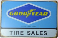 Goodyear Tire Tyre Dealer Sales Service Retro Metal Tin Sign Plaque