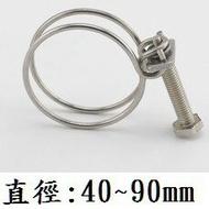 【鋼絲管束】#304 白鐵管束11~90mm 全不鏽鋼帶(含螺絲) 束管圈 水管鐵束 束子 緊束 迫緊