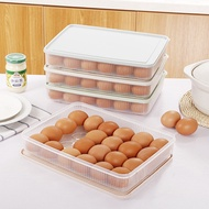 Bilingbling กล่องเก็บไข่พร้อมที่ใส่ฝาปิด 24 หลุมตู้เย็นตู้แช่แข็ง
