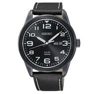 SEIKO 精工潮男必備太陽能皮帶腕錶/V158-0BC0SD/SNE477P1
