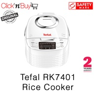 Tefal RK7401 Rice Cooker. Fuzzy Logic. Spherical Pot. 1.5 L Bowl Capacity. 9 Cooking Programs. Safety Mark Approved. 2 Year Warranty.
