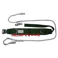 【米勒線上購物】高空防墜設備 桿上安全帶 雙重保險大勾一般型安全帶 柱上用安全帶