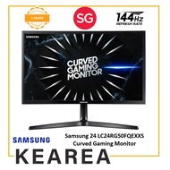 Samsung 24 LC24RG50FQEXXS Curved Gaming Monitor with 144Hz Refresh Rate (3 year onsite warranty)