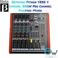 Betamax Python 4250 4 Channel 250W x 2 Power Mixer (Mixer + Amplifier)