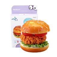 Jandoon DIY Crystal Mud DIY Clay Simulated Hamburger Toy Slime Squishy Bread Food Play Toy
