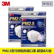 3M PM2.5空污微粒防護口罩帶閥型 - 超值6片  9501V