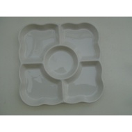 東昇瓷器餐具=大同強化瓷器11.5吋四方五格盤 P8113