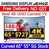 [SG Stock] EINZ 65inch 55inch Curved Real 4K UHD TV /SAMSUNG DISPLAY /SPEAKER /UHD /TV /SAMSUNG