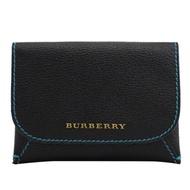 BURBERRY MAYFIELD MINI 金屬LOGO扣式零錢包(黑-附1卡夾)