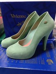 Vivienne Westwood Anglomania + melissa Skyscraper 果綠細絨毛高跟鞋