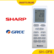 Sharp Gree Fujiaire Electrolux 1HP Air Cond Aircond Air Conditioner Remote Control SH-OFB
