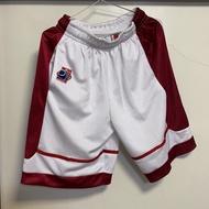 全新-NCAA-籃球褲 白紅(S)