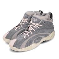 【REEBOK】籃球鞋 Shaqnosis MU 運動 男鞋 歐尼爾 復刻 年輪鞋 麂皮 穿搭 灰 米白(FW0868)