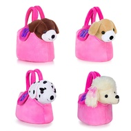 Lazada Plush Puppy Toys Stuffed Animal Dog Doggy Dolls With Pink Hand Bag Christmas Gifts For Childr