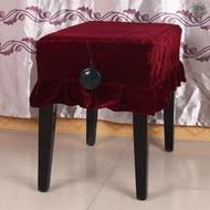 🔥現貨🔥 鋼琴單人凳防塵罩金絲絨材質經久耐用有花邊裝飾紅色