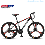 【Ready stock】England Order (raleigh) Mountain Bike 24/27/30/33 Disc Brakes Shock Unisex Student Fitness Off-road Racing 27 Super High Carbon Steel Black Red Spoked Wheel 24-inch
