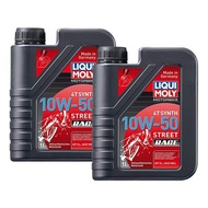 LIQUI MOLY 4T SYNTH STREET RACE 10W-50 ENGINE OIL, MINYAK OIL, LUBRICANTS MOTORCYCLE, YAMAHA 100% ORIGINAL OIL FILTER
