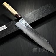 日本進口菜刀 7476 7475堺孝行 和牛刀 33層槌目櫸柄 大馬士革鋼VG10