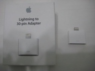 全新 原廠 Apple Lightning  30針 轉接器 adapter  30pin 轉 8pin