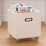 CiS 自然行 鄉村雜貨收納箱+輪 (南法象牙白)
